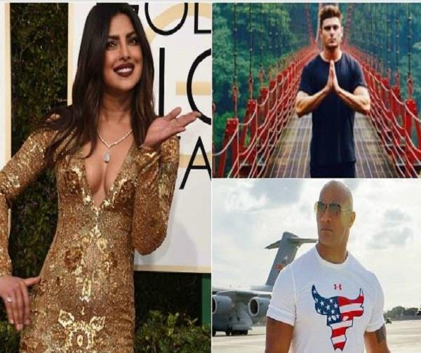dwayne zac praise beautiful priyanka chopra