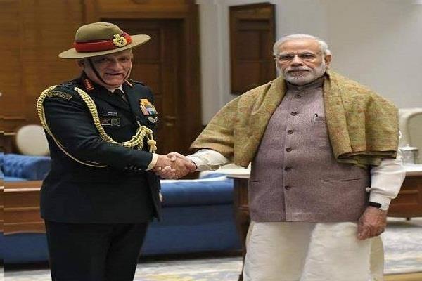 प्रधानमंत्री से मिले सेना प्रमुख