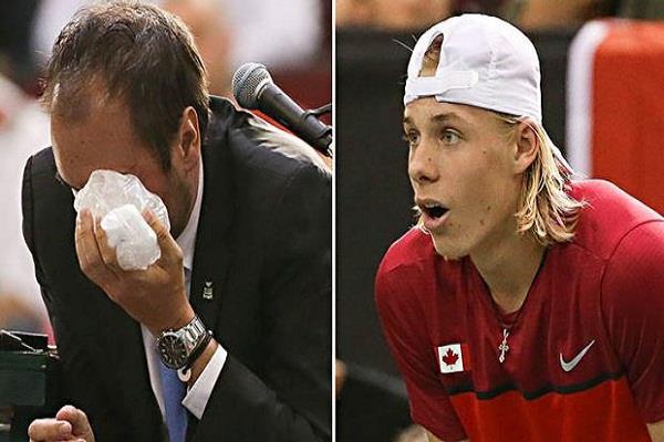 मैच के दौरान दिखा टेनिस खिलाड़ी का गुस्सा, अंपायर के मुंह पर मारी गेंद