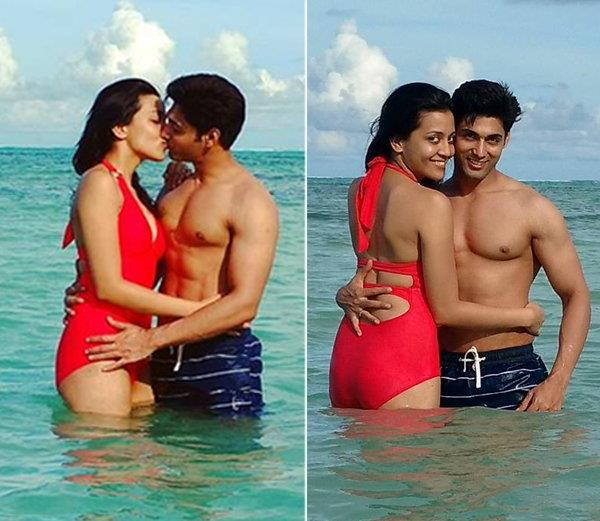 ruslaan mumtaz lip lock with wife on valentines day