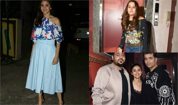 varun  seen with girlfriends natasha on the screening of badrinath ki dulhania