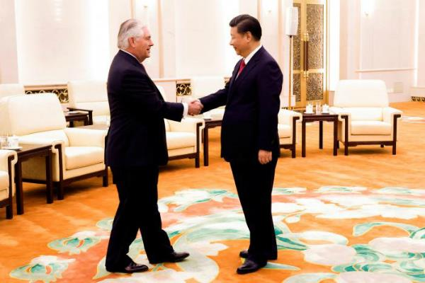 ट्रंप चीन के साथ समझ बढ़ाने की कर रहे उम्मीद :टिलरसन