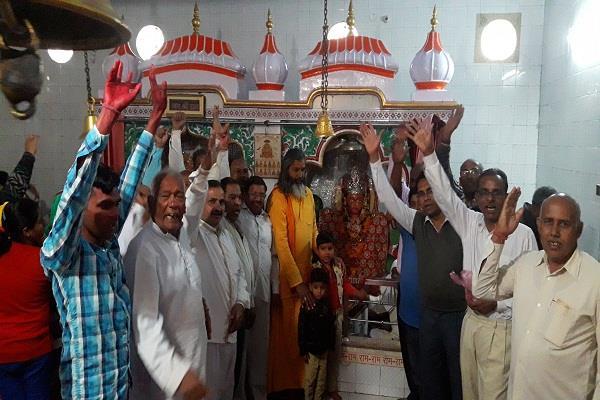 हनुमान मंदिर में फाग उत्सव मेला शुरू, उमड़ी भक्तों की भीड़