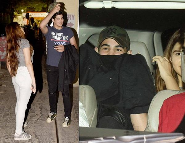akshay son aarav spotted with mystery girl