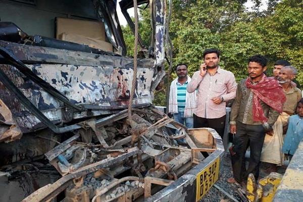 बिहार में भीषण सड़क हादसा, 7 पुलिसकर्मियों की मौत