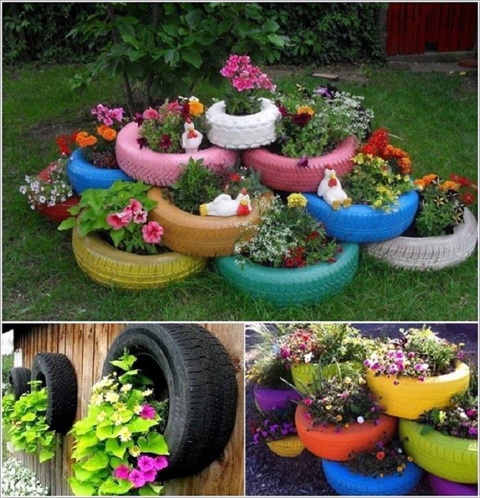 पुराने टायर से दें गार्डन को डिफरैंट Makeover