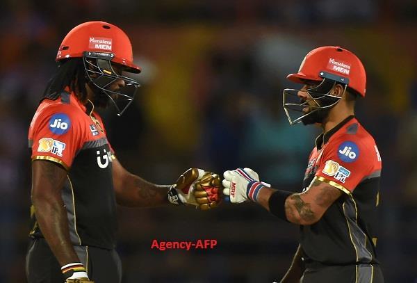 गेल ने खेली तूफानी पारी, बैंगलोर को मिली जीत