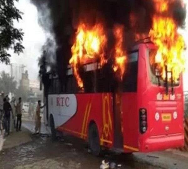 रामपुरा बस कांड: झुलसी महिला यात्री की हुई मौत