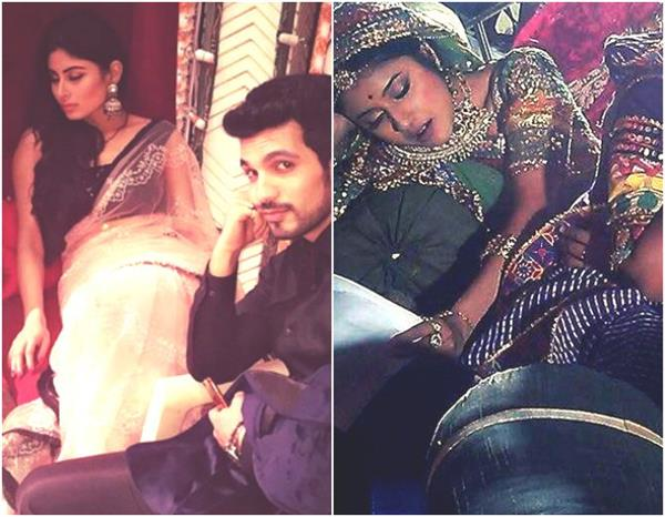 tv actors sleeping on sets