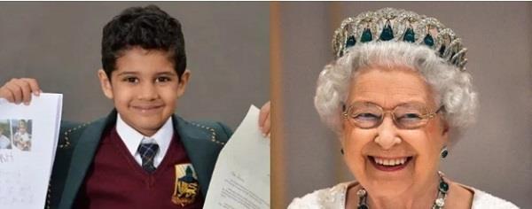 4 साल के भारतवंशी बच्चे ने लिखी ब्रिटिश क्वीन को चिट्ठी, अनोखी जिद का मिला ये जवाब