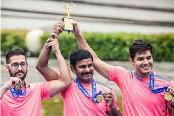 तीरंदाजों ने विश्व कप के पहले चरण में पुरुष टीम स्पर्धा का स्वर्ण जीता