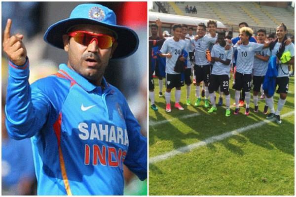 सहवाग ने भारतीय फुटबॉल टीम को दी बधाई और कहा -इटली की 'इडली' बन गई