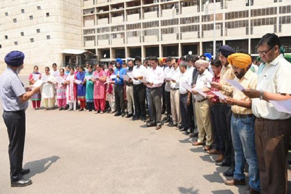 पंजाब सिविल सचिवालय में मनाया गया आतंकवाद विरोधी दिवस