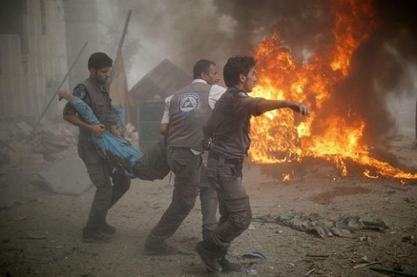 अमरीका समर्थित  सीरियाई हमलों में 117 की मौत