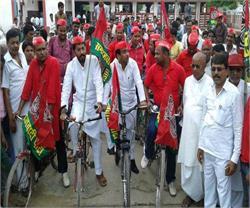 योग दिवस पर SP ने साइकिल रैली निकाल दिया स्वस्थ रहने का संदेश
