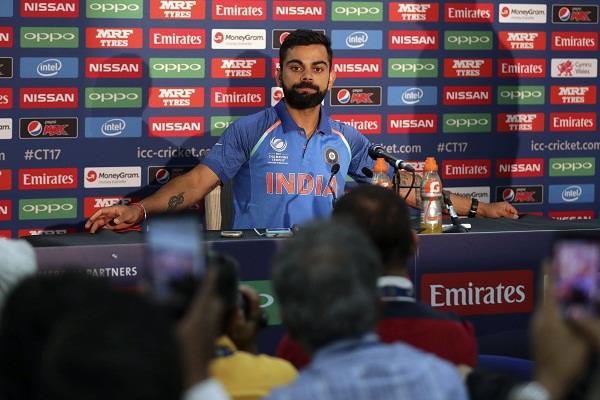 पाकिस्तान के खिलाफ फाइनल से पहले कोहली का बड़ा बयान