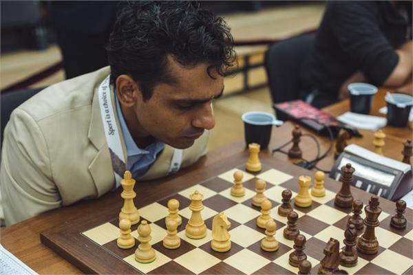 विश्व टीम शतरंज - शशिकिरण जीते फिर भी टर्की से भारत का ड्रॉ