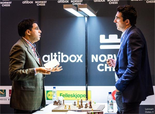 नॉर्वे शतरंज 2017 : क्रामनिक से हारे आनंद