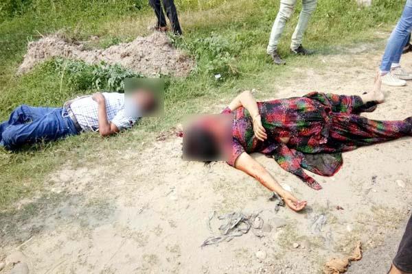 मंदिर से माथा टेक कर घर जा रहे दंपति के साथ हुआ हादसा, पत्नी को मिली दर्दनाक मौत
