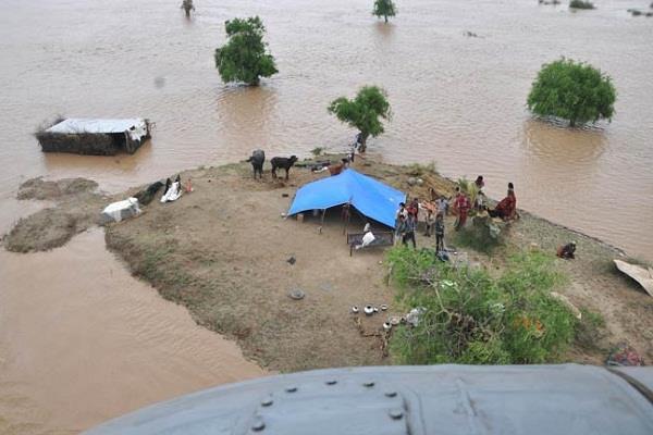 राजस्थान के बाढ प्रभावित जिले में सेना ने 31 लोगों को बचाया