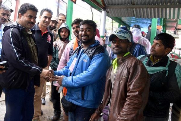 अमरनाथ यात्रा : मीर जहूर ने किया बालटाल का दौरा