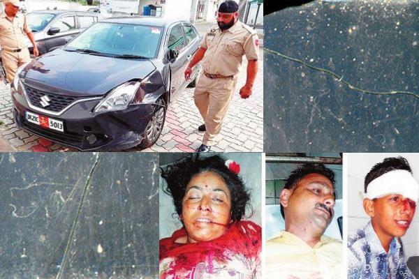 राजमार्ग पर हादसा: मोटरसाइकिल के पीछे जा टकराई कार, महिला की मौत