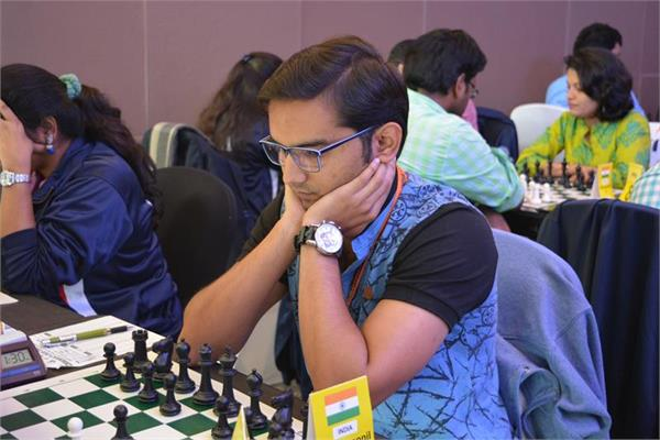 कॉमनवैल्थ शतरंज चैंपियनशिप वैभव और स्वप्निल सयुंक्त बढ़त पर