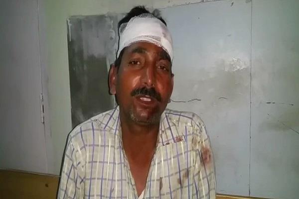 पति पर पत्नी का सितम, पहले सिर में तेजधार हथियार से मारा फिर बदमाशों से करवाई पिटाई