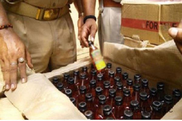 96 बोतलें अवैध शराब सहित 1 काबू
