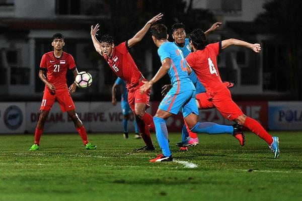 भारत की अंडर-23 फुटबॉल टीम सिंगापुर से 0-1 से हारी