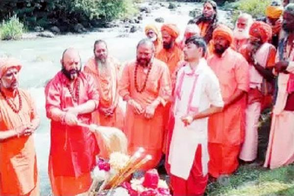 the last ritual of the amarnath yatra performed