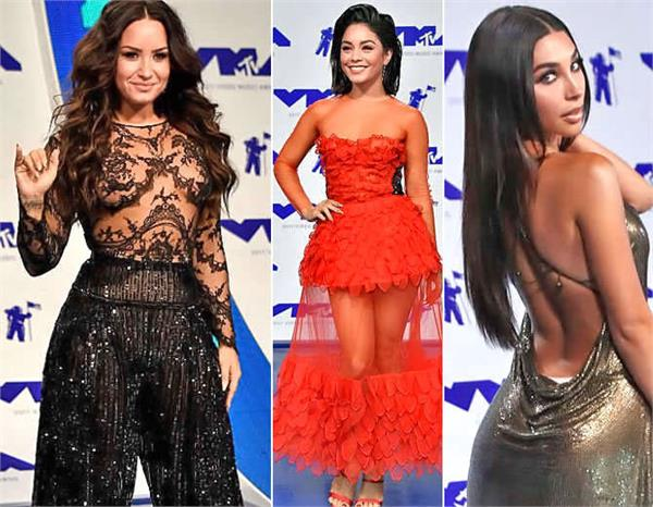 actresses at mtv video music awards in bold look