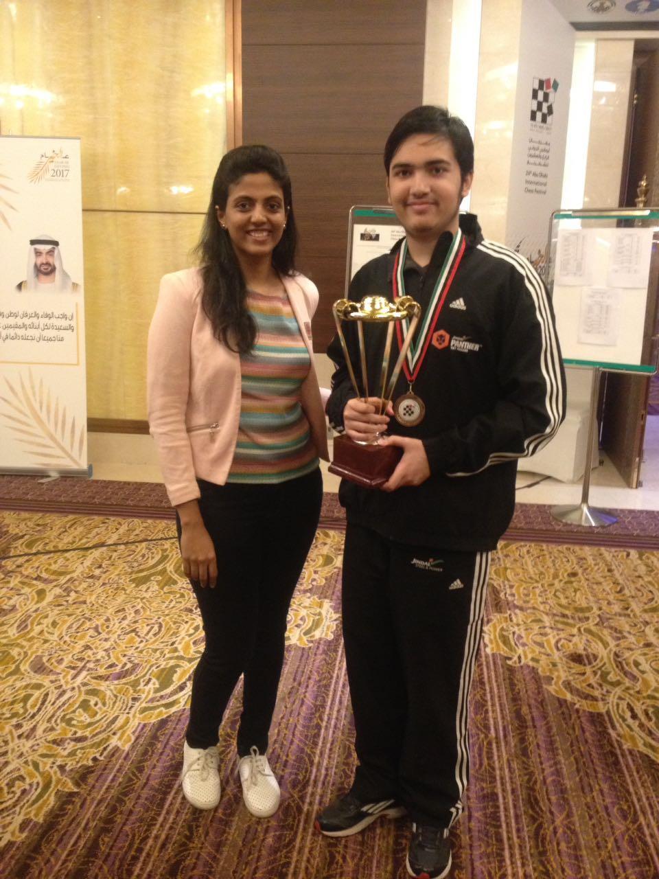आबू धाबी मास्टर्स शतरंज - भारत के आर्यन चोपड़ा तीसरे स्थान पर