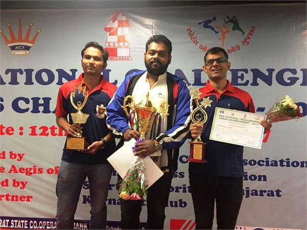55वीं राष्ट्रीय पुरुष चेलेंजर शतरंज स्पर्धा - रोमांचक मुक़ाबले में दीपन बने विजेता ,स्वप्निल दूसरे तो हिमांशु रहे तीसरे