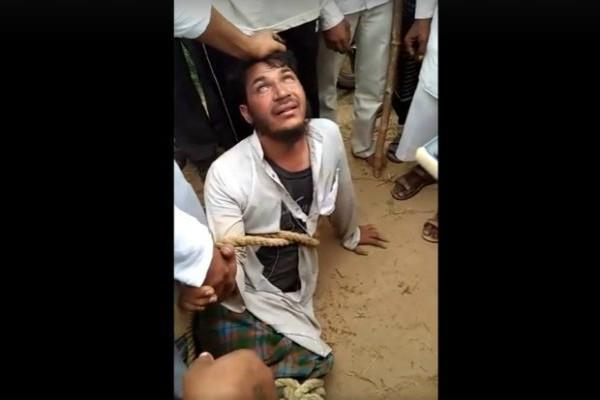 चोटी काटने के आरोप में भीड़ ने युवक को पीटा, वीडियो वायरल
