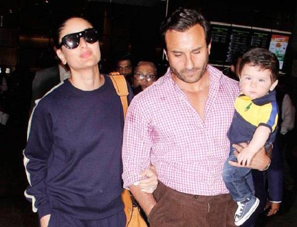 taimur returns from trip with kareena and saif