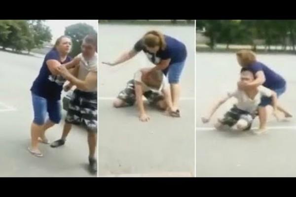 महिला के साथ एेसी हरकत करना चोर को पड़ा भारी(Pics)