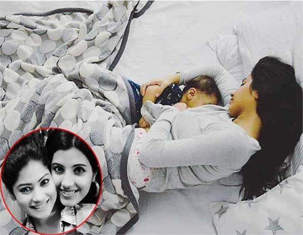 krishna mukherjees sister shares breastfeeding pic