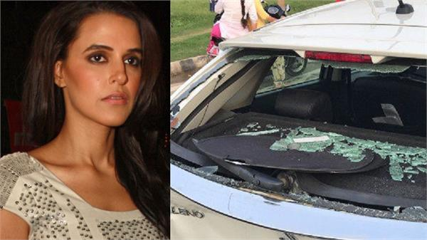 neha dhupia met with accident