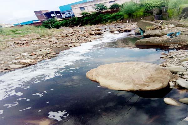 फिर जहरीली हुई बालद नदी, नहीं रुक रहा उद्योगों का जहरीला पानी