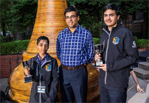 विश्व शतरंज टीम विरूद्ध अमेरिका - भारत के आर्यन और प्रग्गानंधा का चमकदार प्रदर्शन