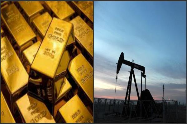 सोना 1 साल की ऊंचाई से फिसला, कच्चे तेल में तेजी