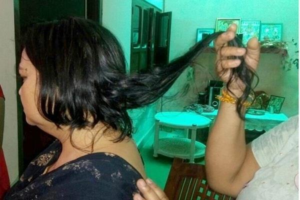 शहर में फिर कटे महिला के बाल, लोगों में दहशत का माहैल