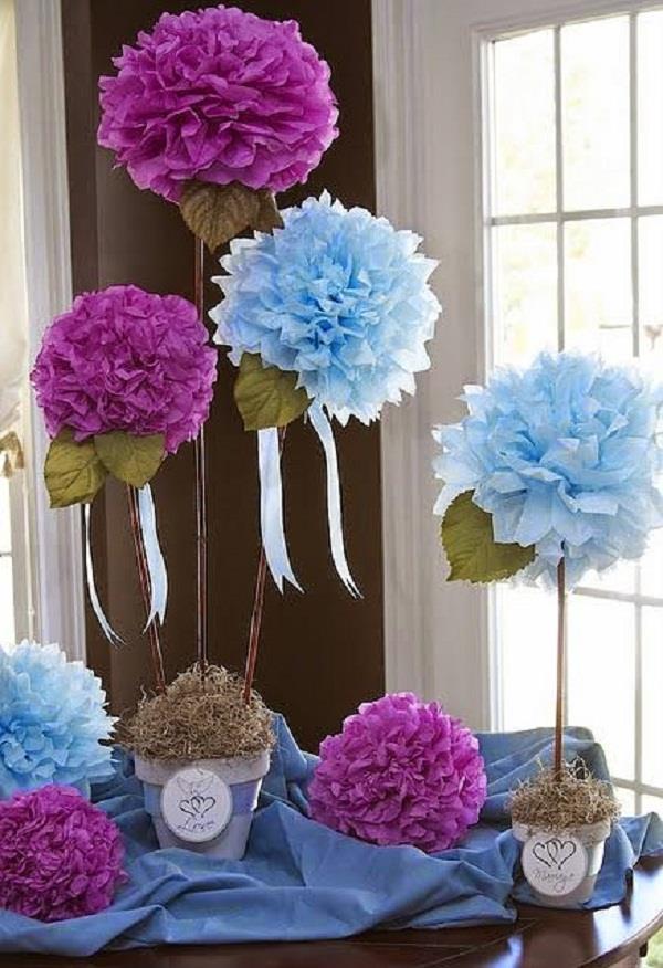 टिशू पेपर से बनाएं कई रंग-बिरंगे Flowers