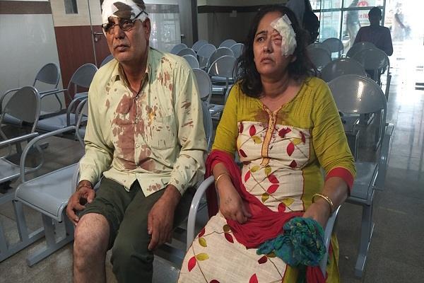 करनाल में बुजुर्ग दंपति पर दामाद ने किया जानलेवा हमला