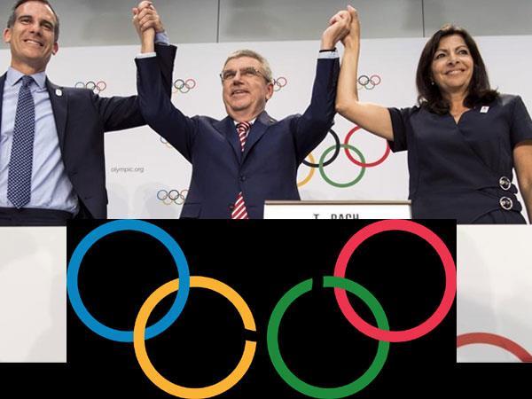 पेरिस और लास एंजिल्स को ओलिंपिक की आधिकारिक मेजबानी