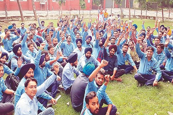 जिले के 117 सेवा केन्द्रों को लगे ताले,कर्मचारी अनिश्चितकालीन हड़ताल पर