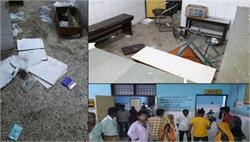 मासूम की मौत के बाद अस्पताल में परिजनों का तांडव, जमकर की तोड़-फोड़, फाड़ी फाइलें