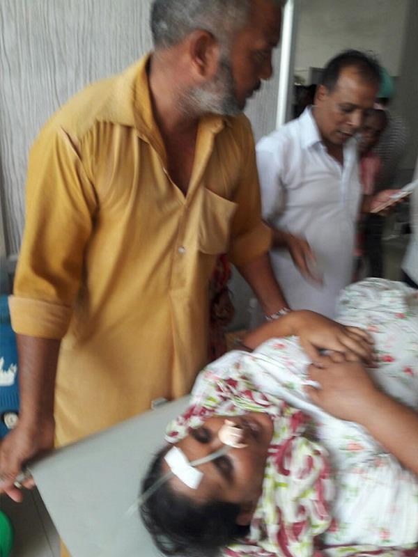 इलाज में लापरवाही बरतने पर मरीज के परिजनों ने जमकर किया हंगामा