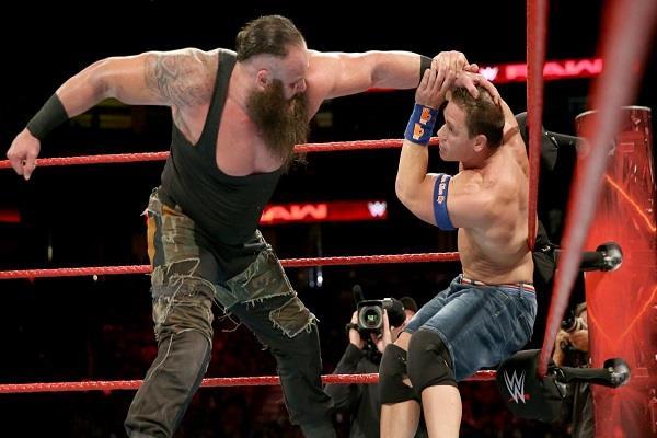 WWE रिंग में पहली बार भिड़े जाॅन सीना आैर ब्राॅन स्ट्रोमैन, देखें Full Fight
